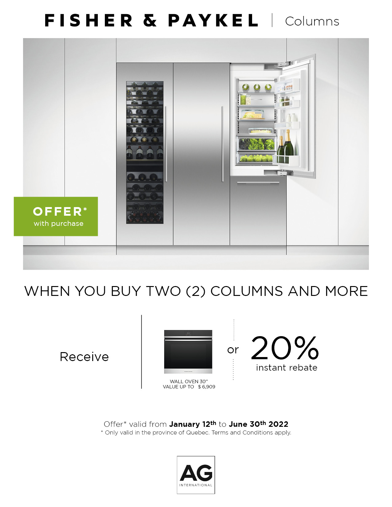 Column Refrigerator Promotion 1 oct-31 dec 2020