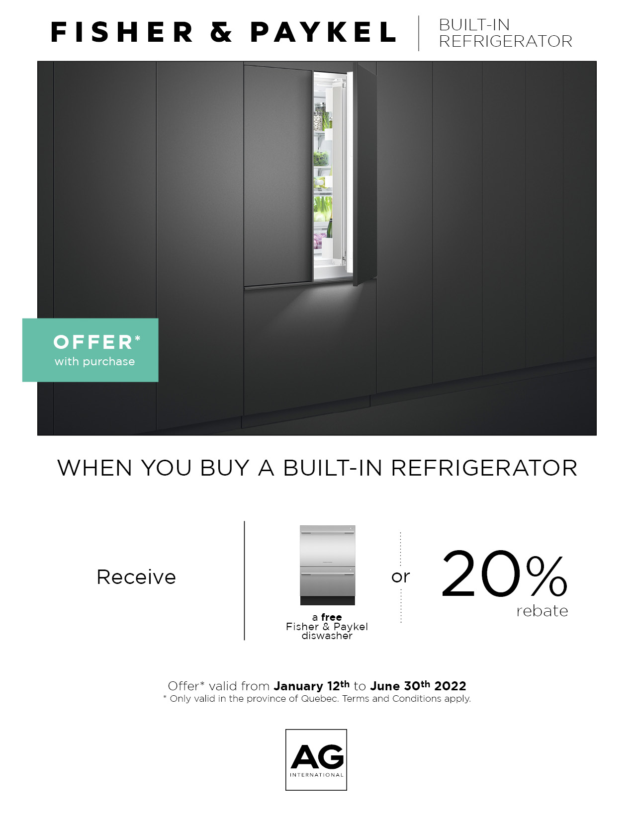 Built-in Refrigerator Promotion 1 oct-31 dec 2020